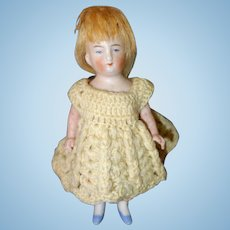 German 6 inch All Bisque Doll