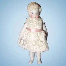 Blonde All Bisque Doll Character Face
