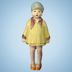 Large All Bisque Nodder Flapper Doll