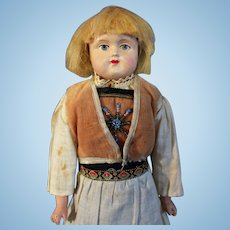 German Celluloid Doll All Original