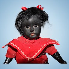 Petite Black Bisque Doll fully jointed body