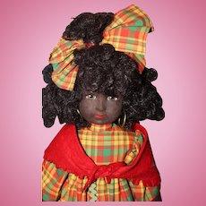 Black Lenci Doll with Original Tag