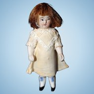 Small All bisque Solid dome Doll