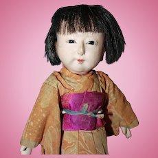 Early Japanese Ichimatsu Doll All Original