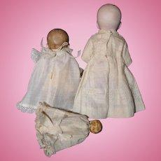 Three German All Bisque Baby Dolls