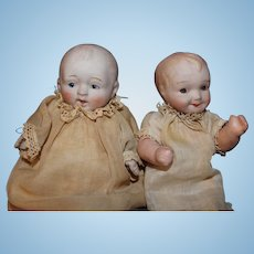Two Bisque Baby Dolls Made in Japan