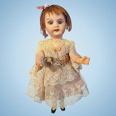 German Bisque Petite Doll compo body