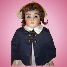 Kestner 195 Bisque Doll with Fur Eyebrows