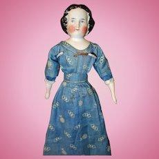 Early China Doll 1860 hairdo