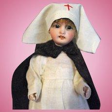 Gebruder Kuhnlenz All Bisque Nurse Doll