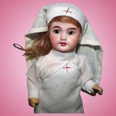 S.F.B.J 301 French Bisque Nurse Doll