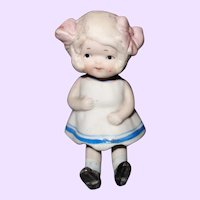 Molded Dress All Bisque Doll