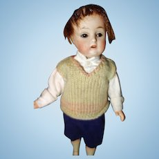 Small German Bisque Boy Doll