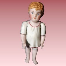 German All Bisque Doll Molded Clothing