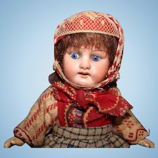 All Original German Bisque Doll in Dutch Costume