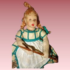Lenci Mascotte Doll with Broom,