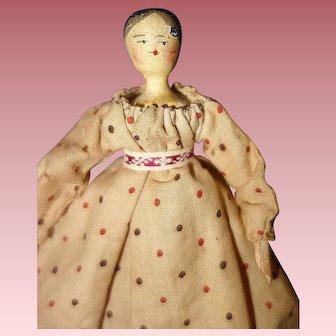 Grodnertal Early German Wood Doll