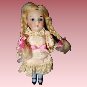 German All Bisque Doll marked 100