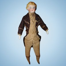 Very Early Doll House Man German Bisque