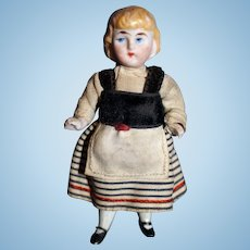 German molded hair all bisque Doll a/o