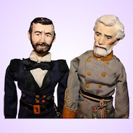 Ulysses S. Grant and Robert E Lee by Ruby Mckim of Kimport Dolls
