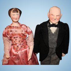 Dwight and Mamie Eisenhower by Ruby Mckim Kimport Dolls