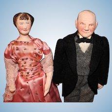 Dwight and Mamie Eisenhower by Ruby Mckim Kimport Dolls