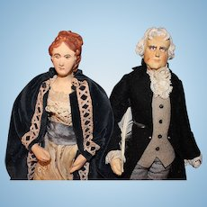 Thomas Jefferson and his Daughter by Ruby Mckim Kimport Dolls
