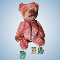 Schuco Pink Teddy with Dice