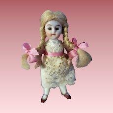 Blond All bisque 3 1/2 inch Doll