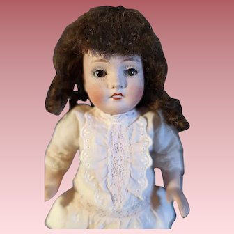 Large 7 1/2 inch all Bisque 150 Doll