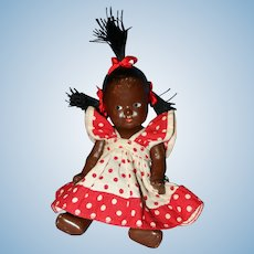Black All Composition Baby Doll