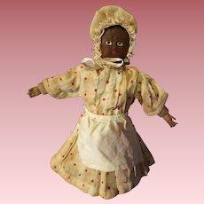 Early All Cloth Black Folk Art Doll
