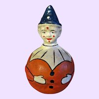 German Rolly Polly Clown Paper mache