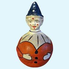 German Rolly Polly Clown Paper mache