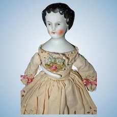 Flat Top China Doll 9 inches tall