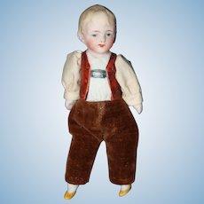 Hertwig Half Doll boy All original