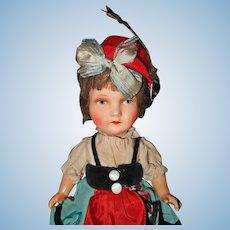 Paper Mache/ Cardboard Doll All Original