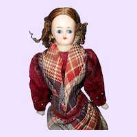 Glass eyed German Doll House Doll