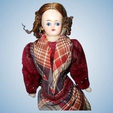 Glass eyed German Doll House Doll