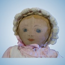 Early Moravian Cloth Doll Polly Heckewelder