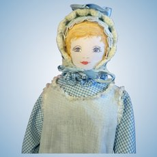 All cloth Moravian Doll 1980's