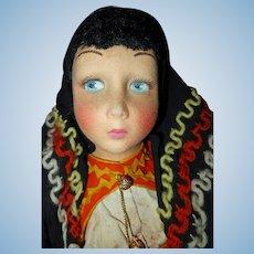 Lenci Felt Boudoir Bed Doll
