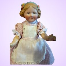 Goebel molded hair Bisque Socket head doll