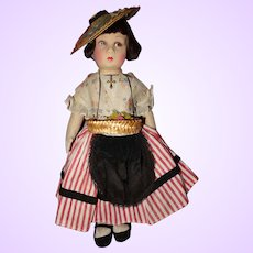 French All Cloth Doll with Kimport Label