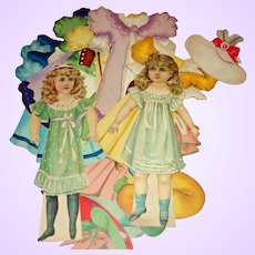 Darling Marjorie and Dolly Delight Raphael Tuck Paper dolls