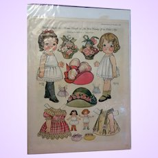 Large Group Dolly Dingle Paper Dolls