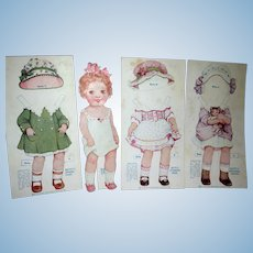 Baby Betty Paper Doll Samuel Gabriel 1920