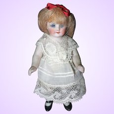 German All bisque 3 1/2 inch doll