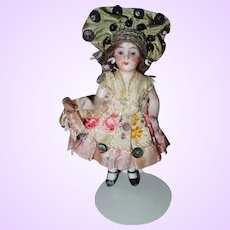 All Bisque German Doll Factory Original clothing